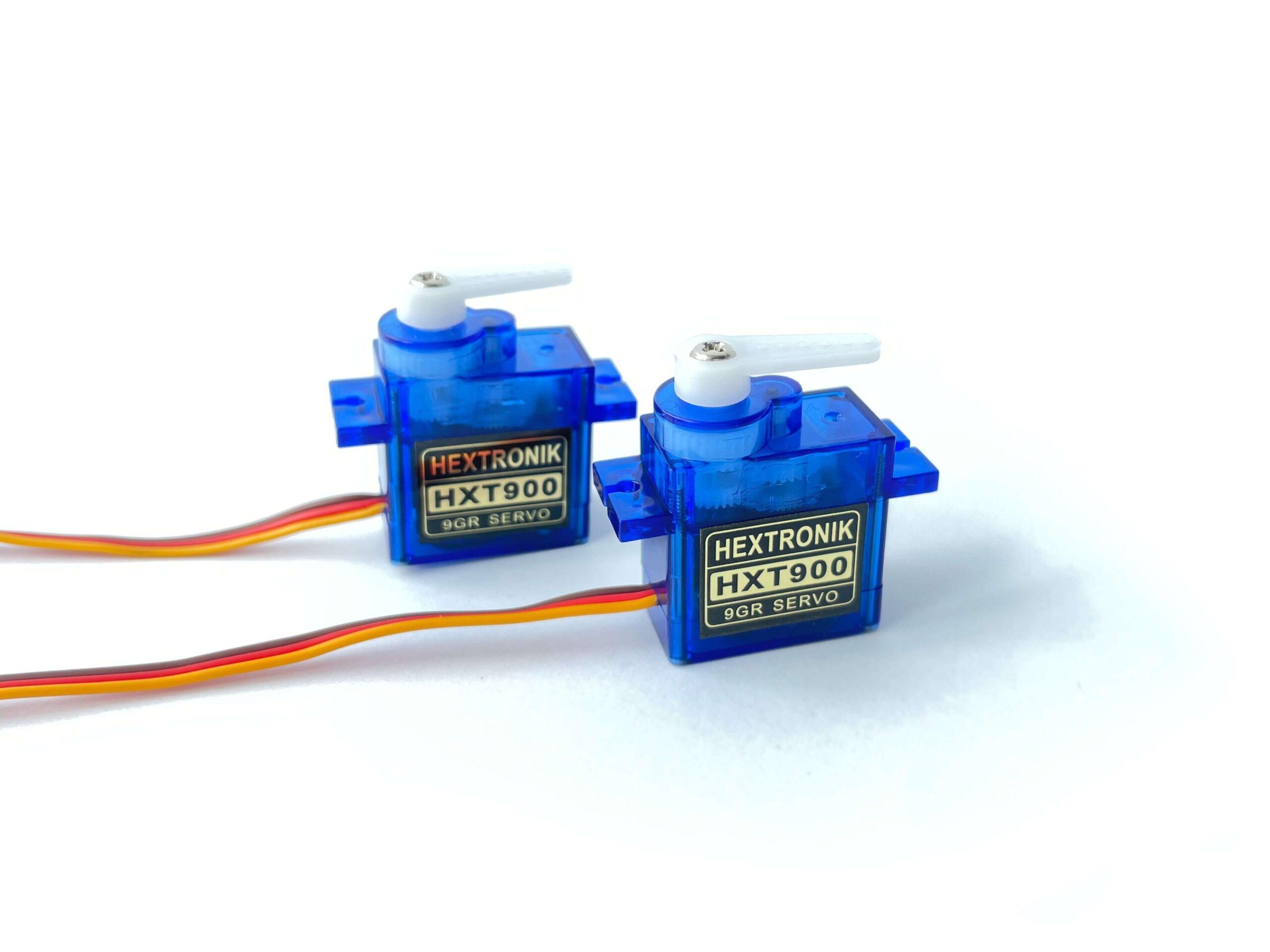 A pair of HXT900 Servos